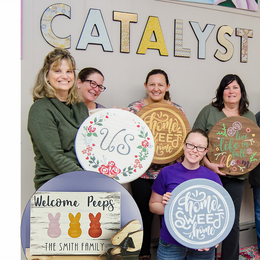 $45- Any Size- Wood Sign Painting Party