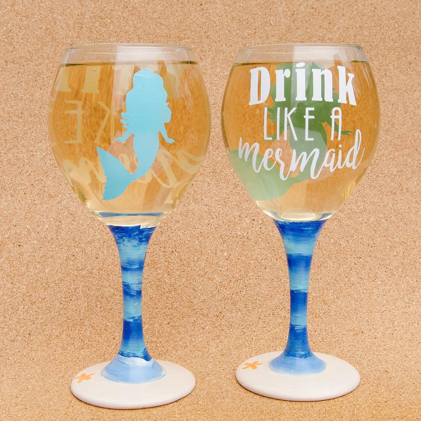 $39 Drink Like A Mermaid Glasses