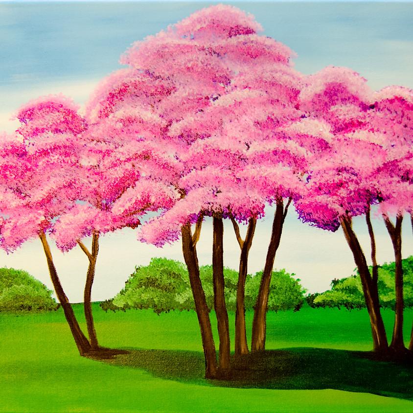 $30- Spring Trees Paint Night