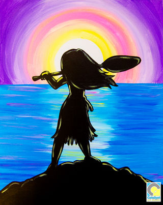 Girl and Sunset