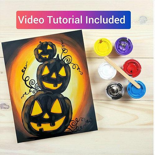 Pumpkin Stack DIY Paint Kit