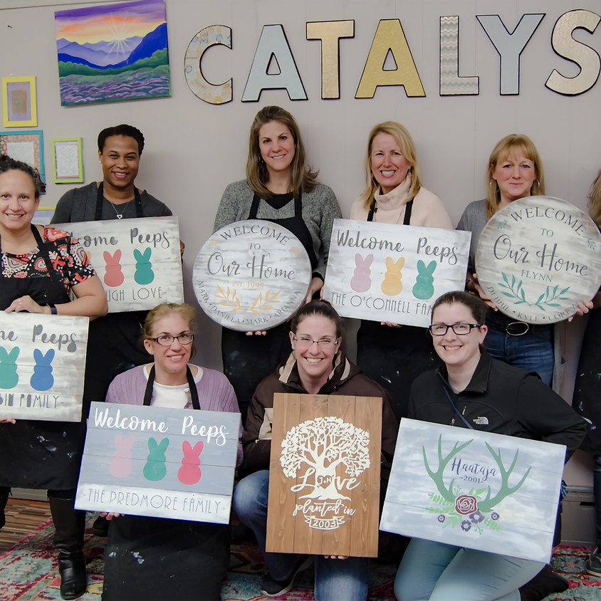 $45- Any Size- Wood Sign Painting Party (1)