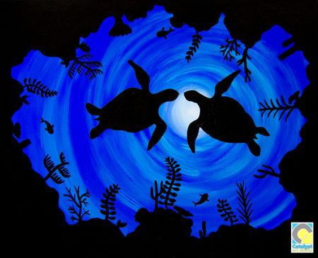 Sea Turtle Silhouette