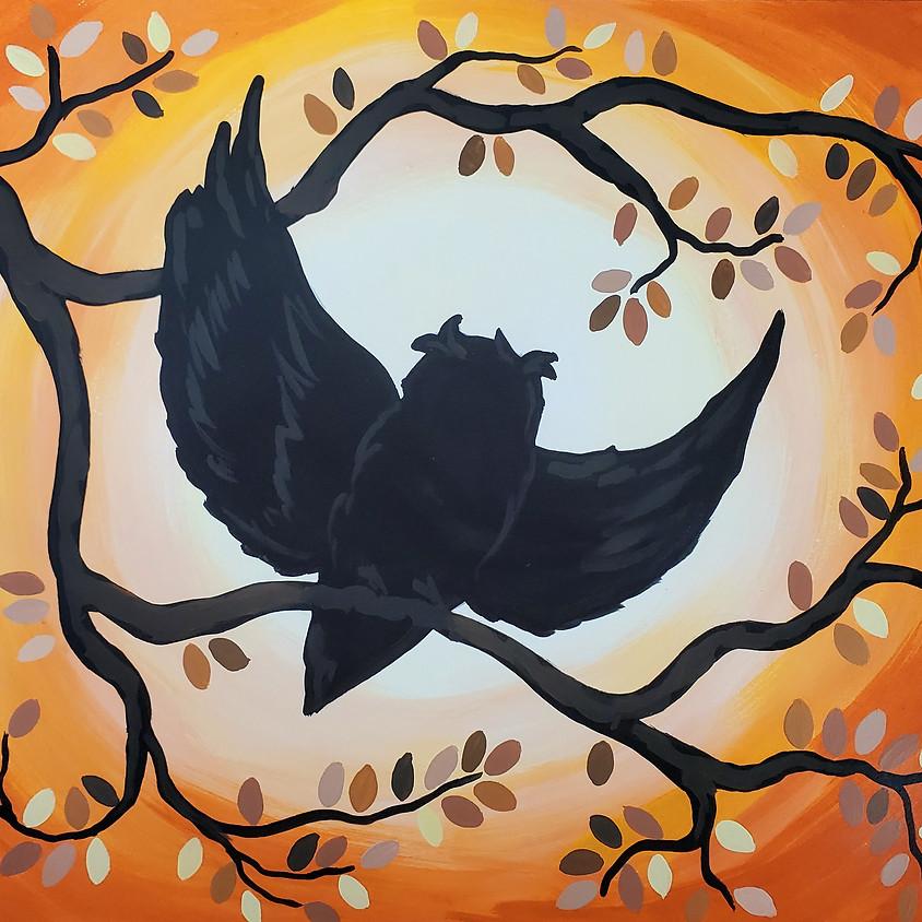 $25- Autumn Owl Paint Night