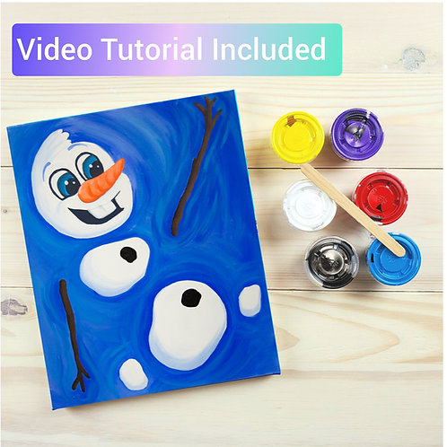 Melting Snowman Paint Kit