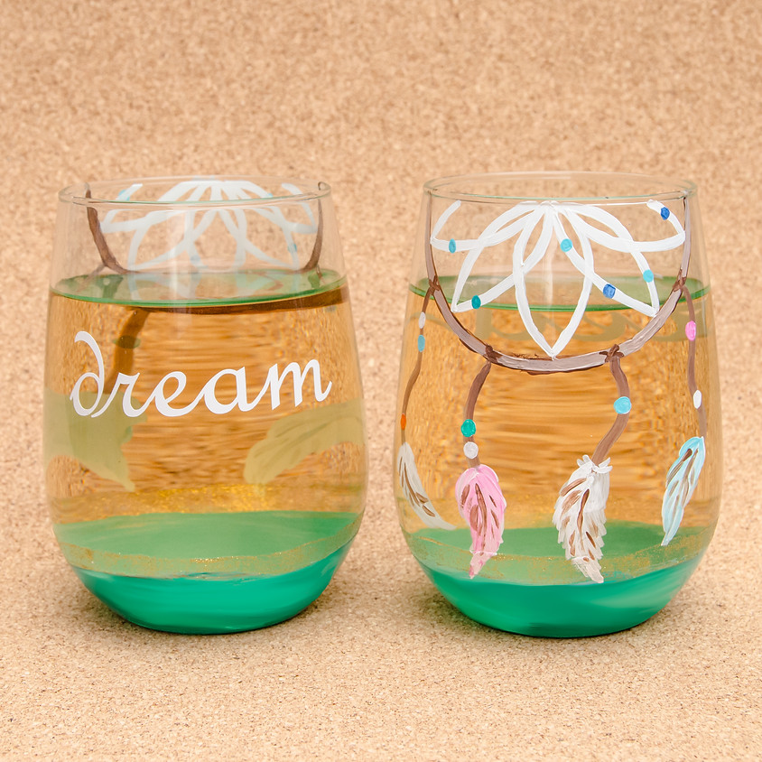 $39 Two Stemless Dream Glasses