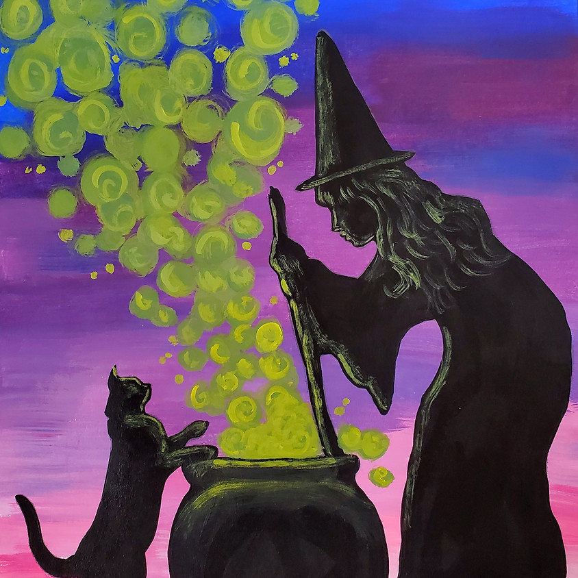 $25- Witch and Cat Paint Night