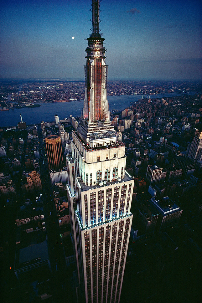 Empire State Building, bird's eye view, New York City