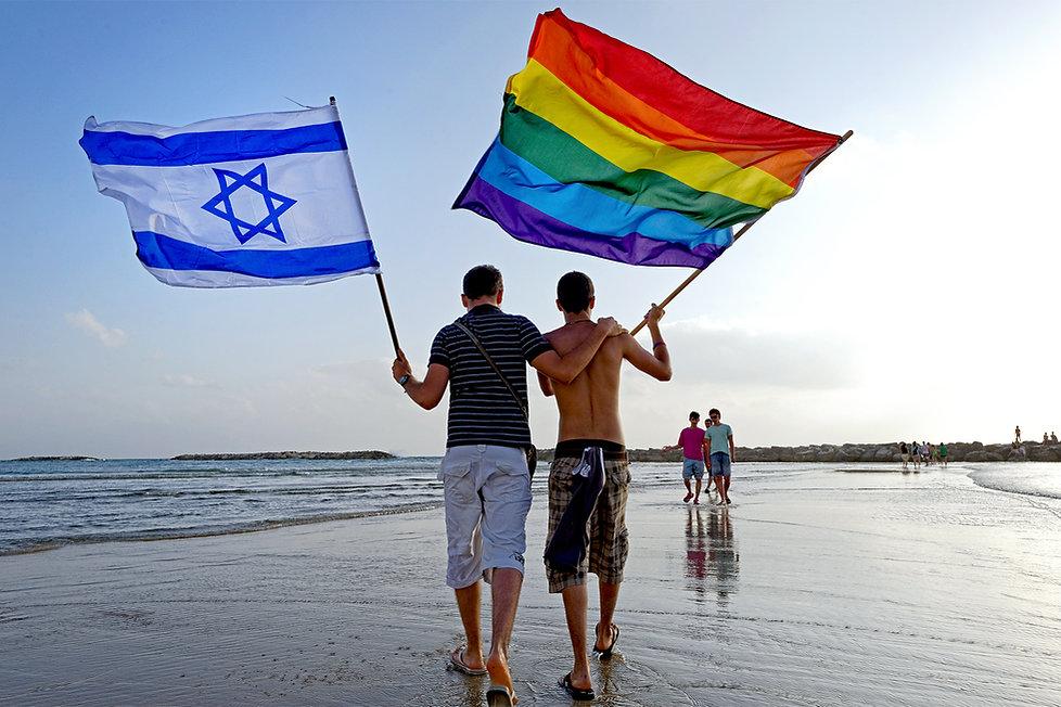 Gay Pride Tel Aviv; Gay Pride; el Aviv; Israel; Gordon Beach; Rainbow Flag