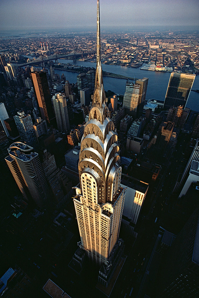Chrysler Building, bird's eye view, New York City