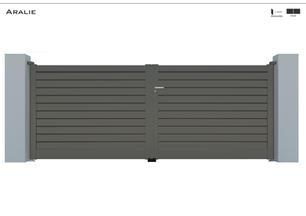 TENDANCE 2020     Coloris : RAL 7039 FT  Remplissage : Barreaux 120 Biseautés (brise vue)  Décor : Non  Bicoloration : Possible