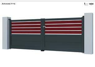 TENDANCE 2020     Coloris : RAL 7016 FT  Remplissage : Lames 150 (ou lames 240) I Barreaux 120 Biseautés  Décor : Non  Bicoloration : Possible I Modèle présenté :Barreaux 120  Biseautés RAL 3004 FT
