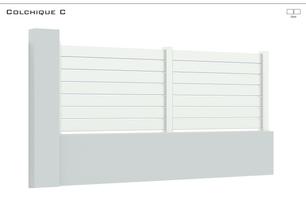 Coloris : Blanc  Remplissage : Lames 120 - espace 12 mm