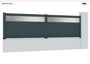 TENDANCE 2021     Coloris : RAL 7016 FT  Remplissage : Tôle Design au choix Persïde, Lhassa, Lunaïte, Spirale  Décor : Sérigraphie en option  Bicoloration : Tôle en Argent Satiné