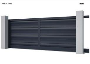 Coloris : RAL Noir 2100 Sablé  Remplissage : Lames Boomerang 180  Décor : Non  Bicoloration : Possible