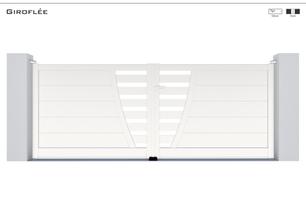 Coloris : RAL 9016 FT  Remplissage : Lames 240 Horizontales(ou lames 150) I Barreaux 80 Horizontaux (ou Barreaux de 120)  Décor : Possible  Bicoloration : En option