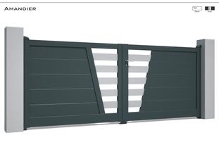Coloris : RAL 7016 FT  Remplissage : Lames 240 (ou lames 150) I Barreaux 120 (ou Barreaux de 80)  Décor : Possible  Bicoloration : Possible I Modèle présenté : Barreaux RAL 7035 FT