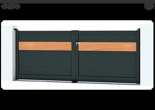 TENDANCE 2021     Coloris : RAL 9005 FT  Remplissage : Lames 240 (ou lames 150) I 1 Lame 240 coloris Red Cedar  Décor : Non  Bicoloration : Possible