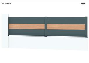 TENDANCE 2020     Coloris : RAL 7016 FT  Remplissage : Lames 240 (ou lames 150)   Bicoloration : 1 Lame 240 x 22 mm coloris Red Cedar