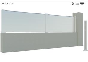 TENDANCE 2020     Coloris : RAL 9016 FT  Remplissage : Barreaux 120 Biseautés empilés  Clôture KIT / 3 coloris possible : 9016 FT / 7016 FT / 2100 Sablé