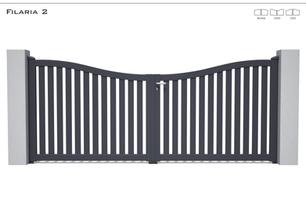Coloris : RAL 5008 FT  Remplissage : Barreaux 80 (ou barreaux 120) I Traverse Haute et Basse 90  Décor : Non  Bicoloration : Possible