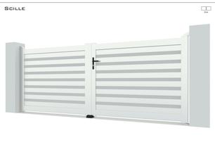Coloris : Blanc  Remplissage : Lames 150  I Profil H RAL 9006