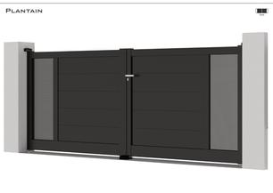 TENDANCE 2021  Coloris : RAL 9005 FT  Remplissage :Tôles Standards / Lames 240 Horizontales (ou Lames 150)  Décor : Non  Bicoloration : Tôles Argent Satiné