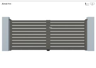 TENDANCE 2020     Coloris : RAL 7039 FT  Remplissage : Barreaux 120 Biseautés  Décor : Non  Bicoloration : Possible