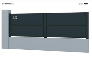 TENDANCE 2020     Coloris : RAL 7016 FT  Remplissage : Töles Cassettes 2 Faces  Découpe Laser : En option  Bicoloration : Possible