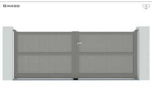 Coloris : RAL 7039 FT  Remplissage :Tôles standards trous rectangle  Décor : Non  Bicoloration : En option