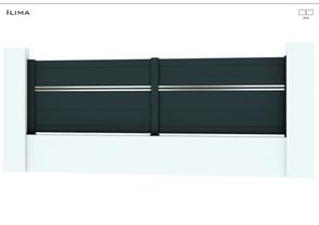 TENDANCE 2021  Coloris : RAL 7016 FT  Remplissage : Lame 240 x 22 mm ou 150 x 22 mm et 20 x 22 mm  Bicoloration : 2 lames de 20 x 22 mm en Argent Satiné