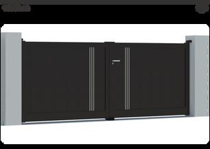 TENDANCE 2021     Coloris : RAL Noir 2100 Sablé  Remplissage : Lames 240 (ou lames 150) I Lames 20 Argentées  Décor : Non  Bicoloration : 6 Lames de 20 Argent Satiné