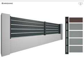Coloris : RAL 7016 FT  Remplissage : Barreaux 120 (ou barreaux 80) espace 15 mm  Bicoloration : Possible