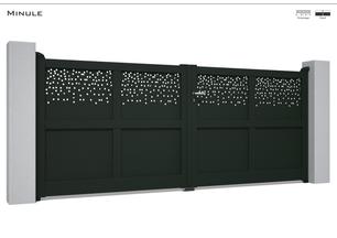 Coloris : RAL Noir 2200 Sablé  Remplissage :Tôles Mizar I Tôles Pleines  Décor : Non  Bicoloration : Possible
