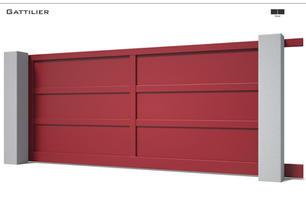 Coloris : RAL 3004 S  Remplissage : Tôles pleines aluminium  Décor : Non  Bicoloration : Possible