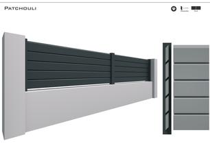TENDANCE 2020     Coloris : RAL 7016 FT  Remplissage : Barreaux 120 Biseautés (brise vue)  Bicoloration : Possible  Pour le modèle en KIT 3 coloris disponible : 9016 FT / 7016 FT/ 2100 Sablé