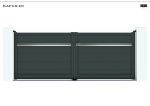 TENDANCE 2021     Coloris : RAL 7016 FT  Remplissage : Lames 240 (ou lames 150) I Lames 20 Argentées  Décor : Non  Bicoloration : 2 Lames de 20 Argent Satiné