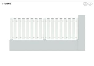 Coloris : Blanc  Remplissage : Barreaux 120