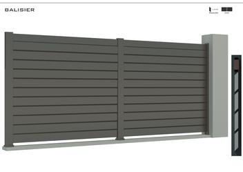 TENDANCE 2020     Coloris : RAL 7039 FT  Remplissage : Barreaux 120 Biseautés (brise vue)  Bicoloration : Possible