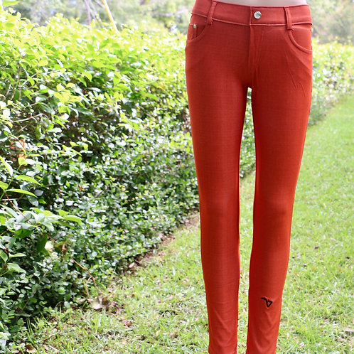 Jean leggings (burnt orange)