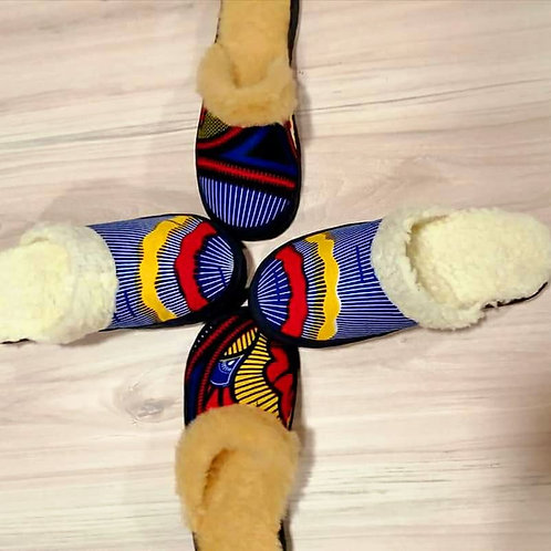 African print Slippers