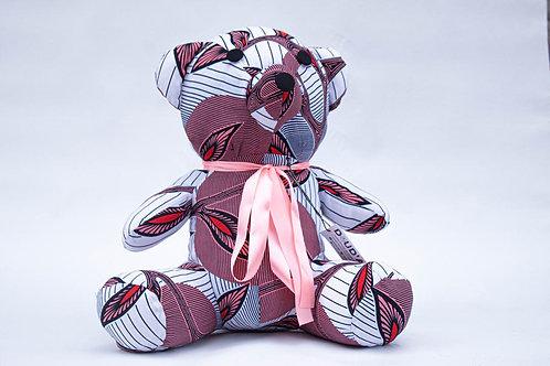 Bouba The African print Teddy bear (50cm)