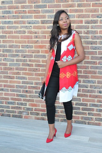 Coco rouge African print waistcoat
