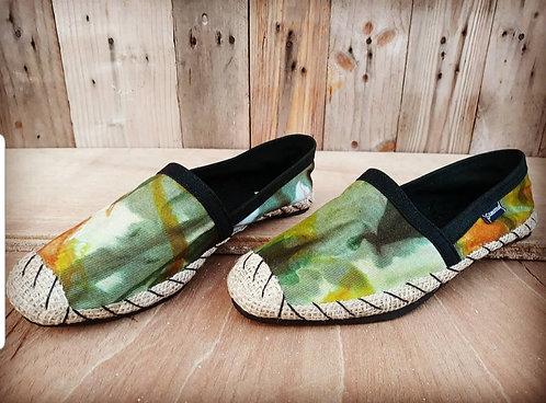 "Sambara ""Tie Dye"" African print espadrilles"