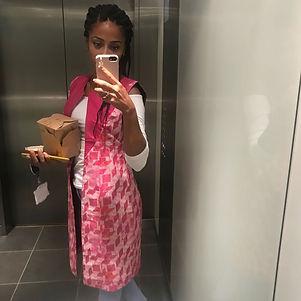 African print pink and orange waistcoat