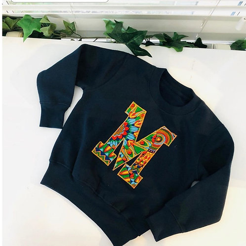 Me Adults African print personalised jumper