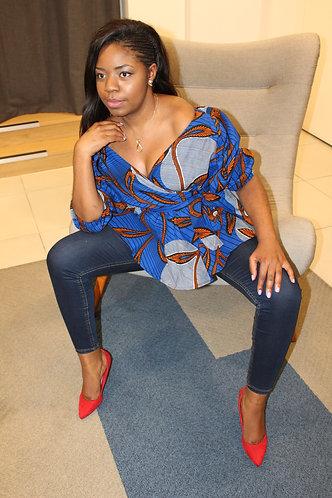 Michou African print top