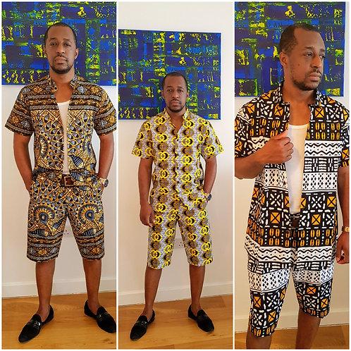 """KWAME "" set African print shirt"