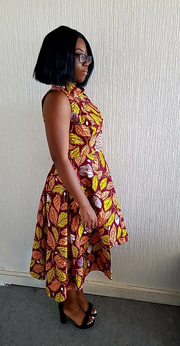 Monia African print dress