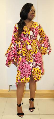 Leila floral African print dress